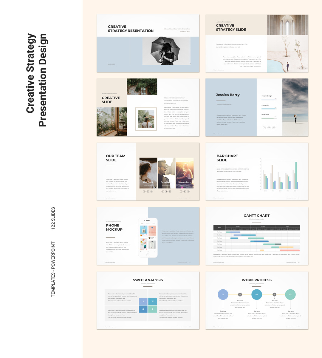Creative Powerpoint Examples: Creative Strategy PowerPoint Template