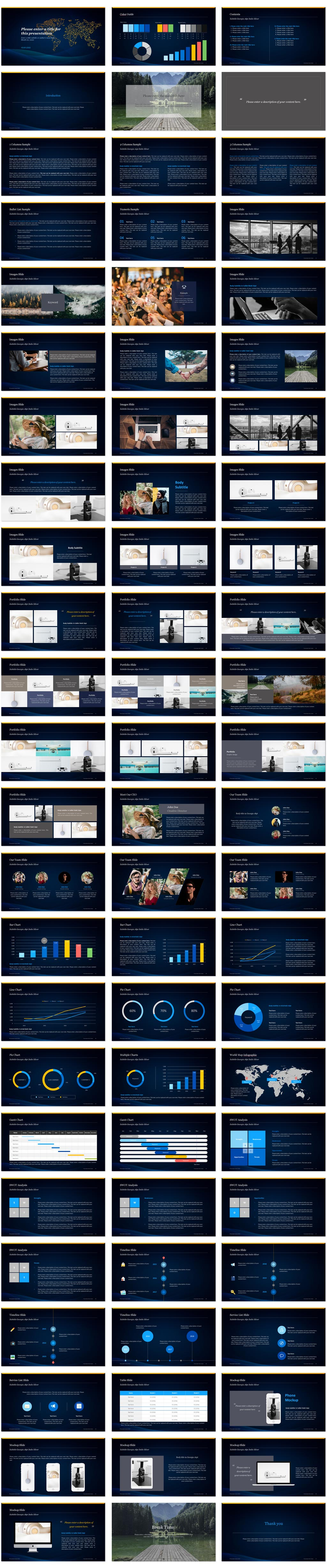 Global Presentation PowerPoint Template