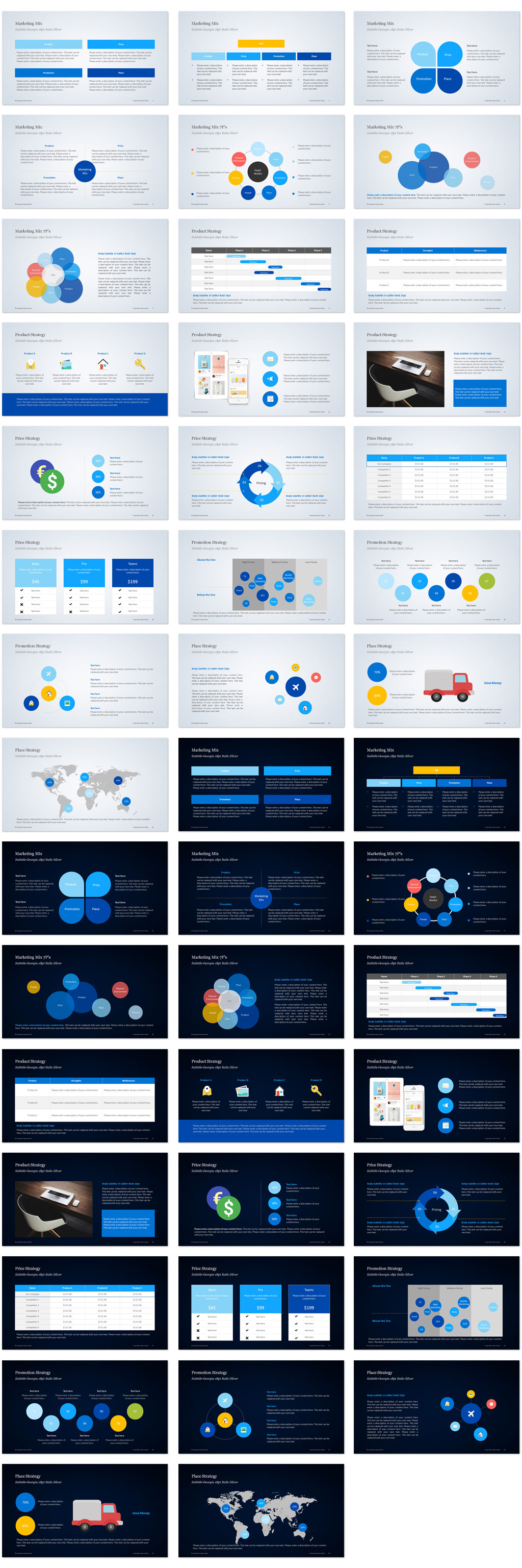 Marketing mix PowerPoint Templates