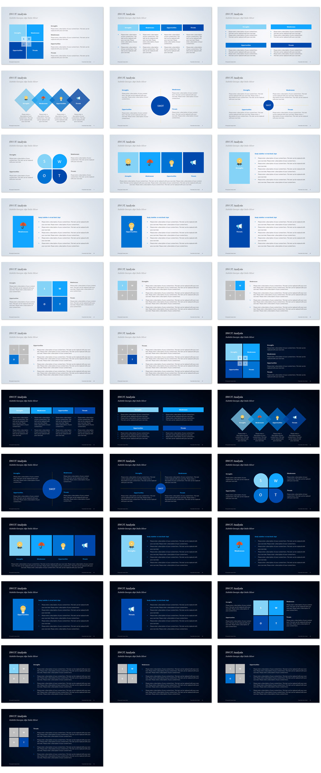 SWOT Analysis PowerPoint Templates