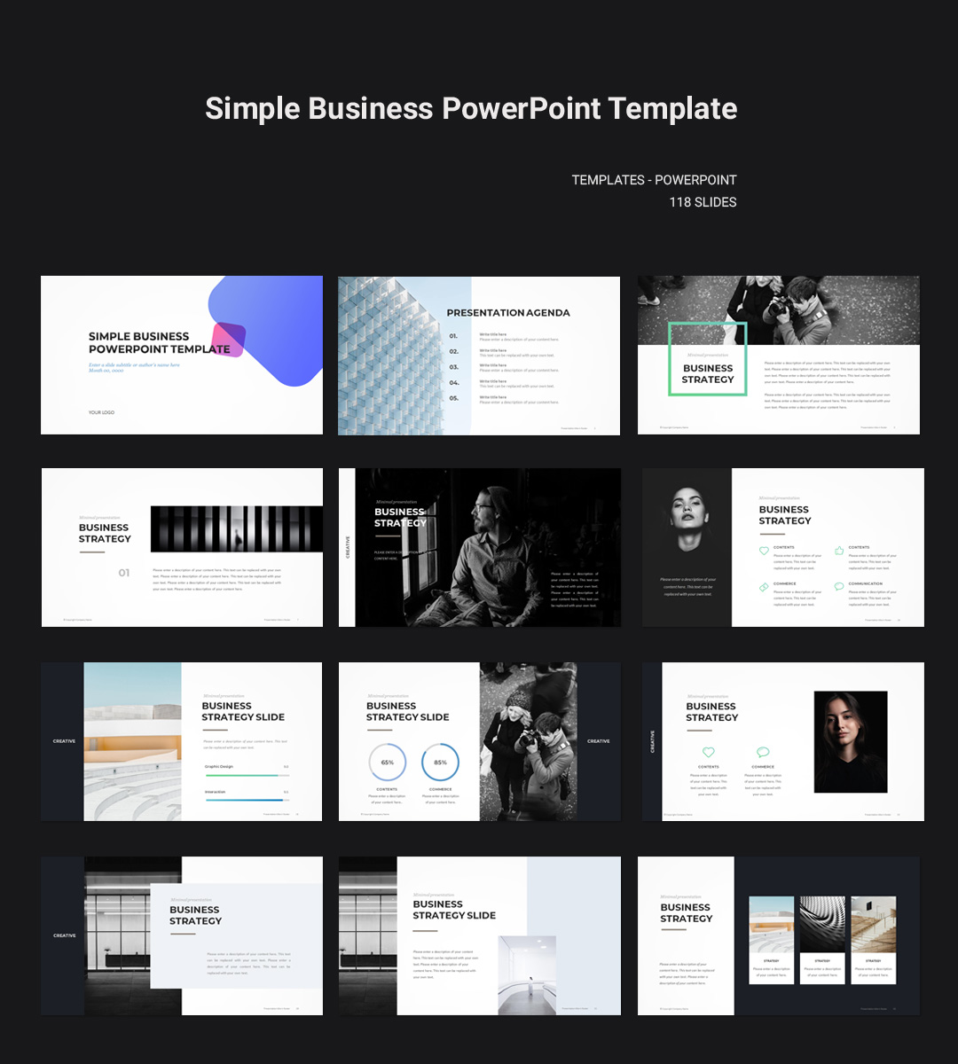 Simple Business Powerpoint Template Download Powerpoint Pptwear