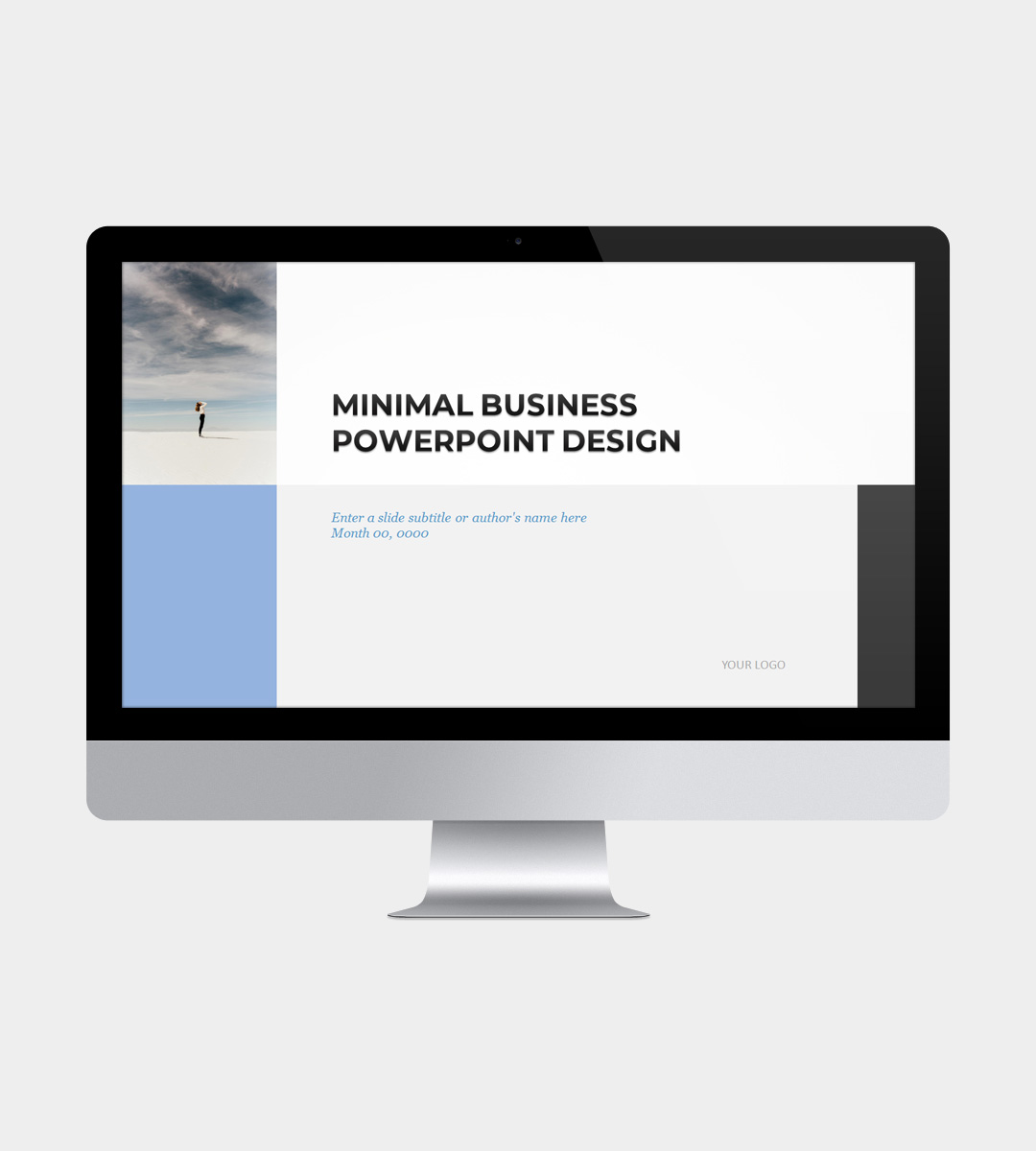 Minimalist Powerpoint Template: Minimal Business Plan PowerPoint Template
