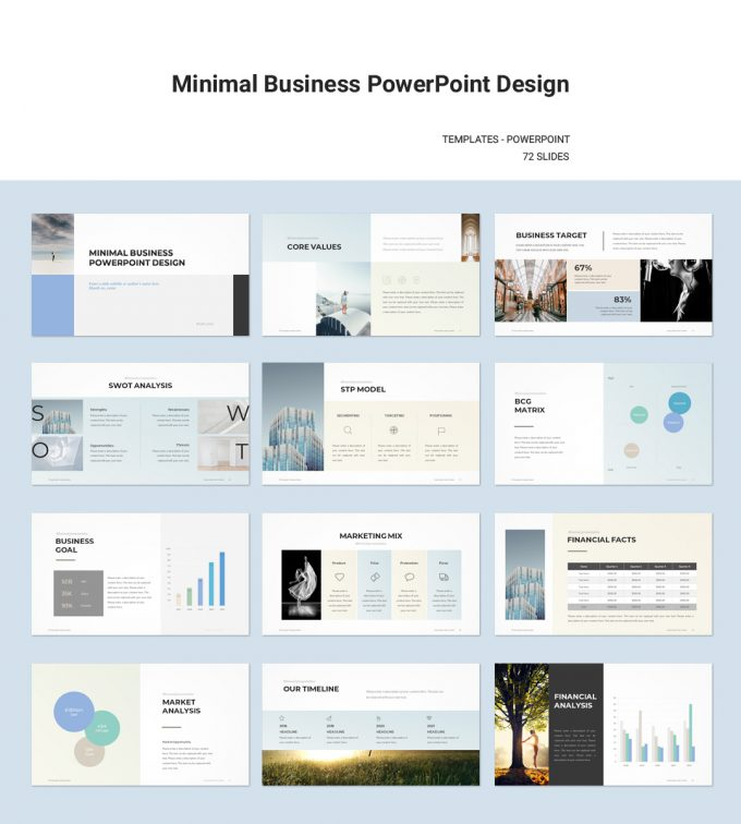 Minimal Business Plan PowerPoint Template