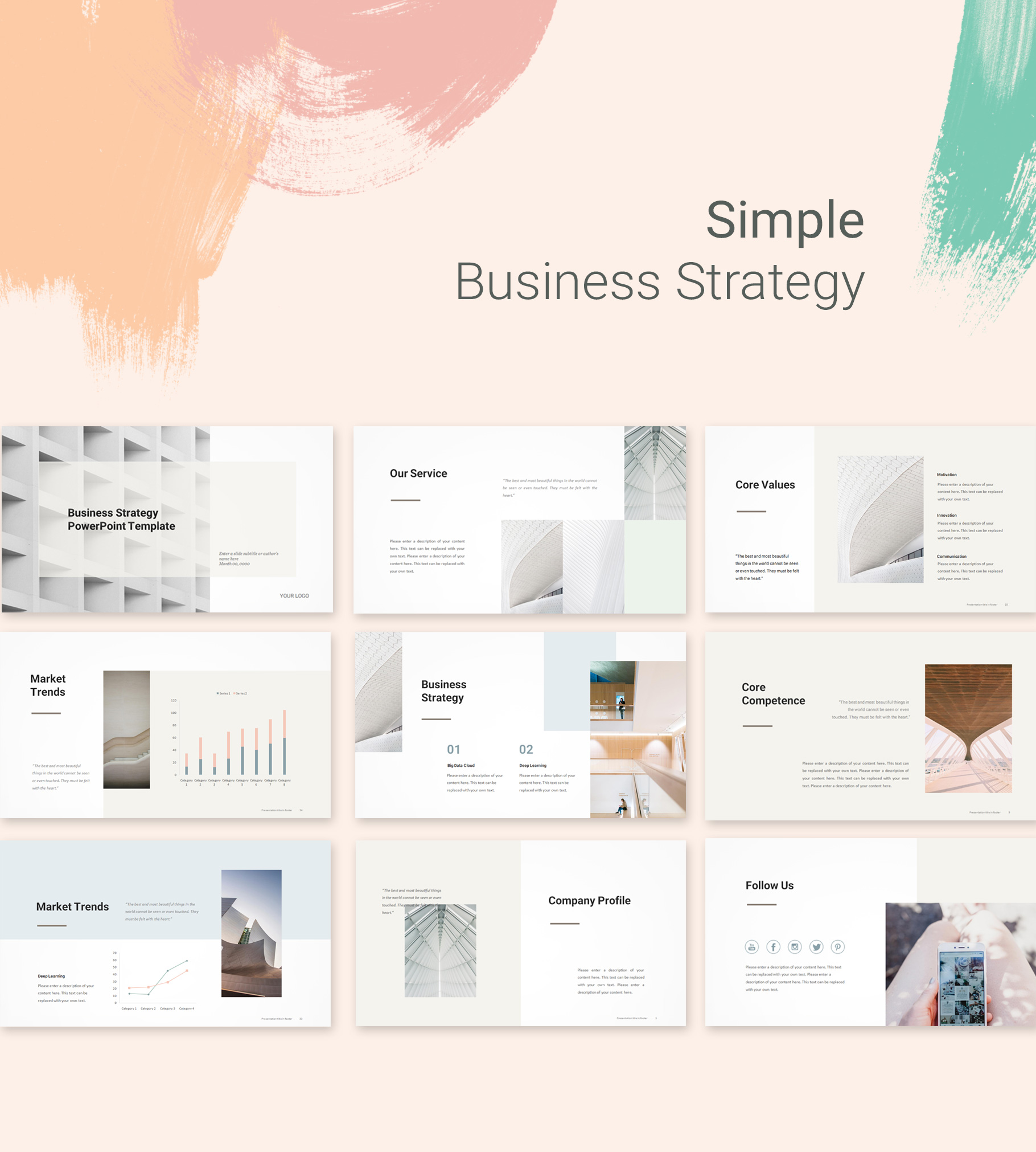 Simple Business Strategy Template Pptwear Com Download Ppt