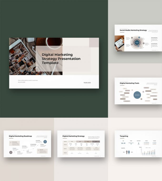 Digital Marketing Strategy Template Preview