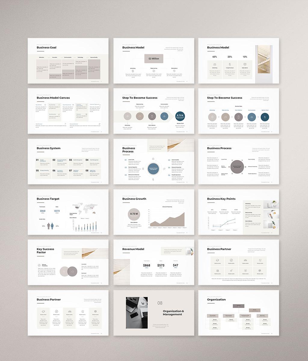 Business Plan PowerPoint Template 006