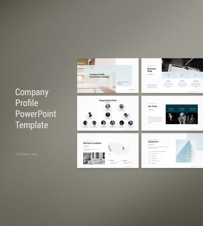 Company Profile PowerPoint Template Cover