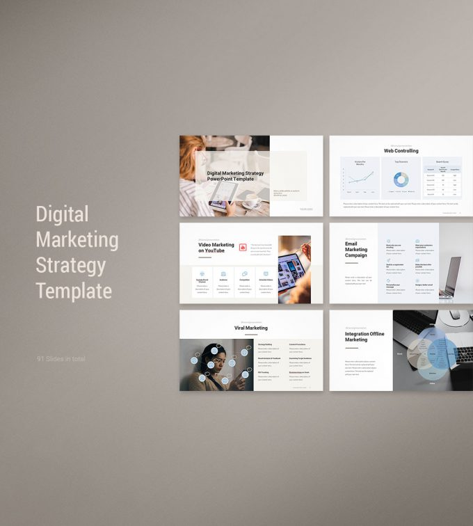 Digital Marketing Strategy Template Cover