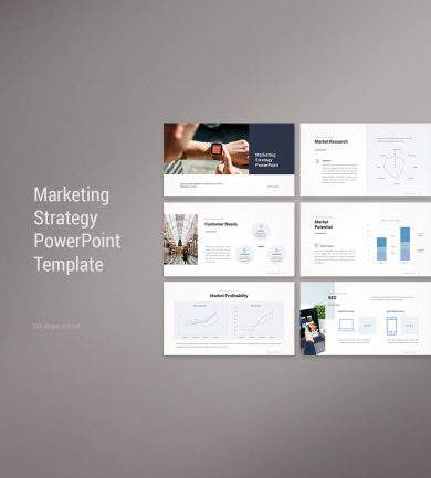 Marketing Strategy PowerPoint Template Cover