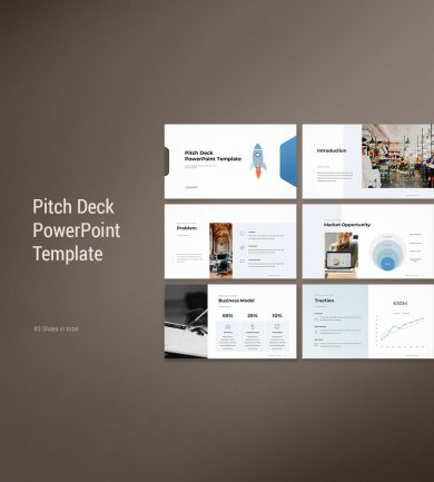 Pitch Deck PowerPoint Template Cover