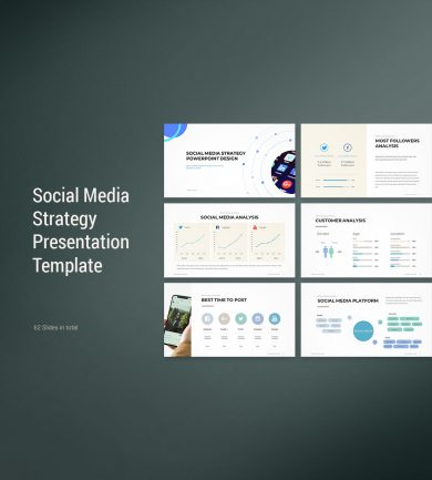 Social Media Strategy Template Cover