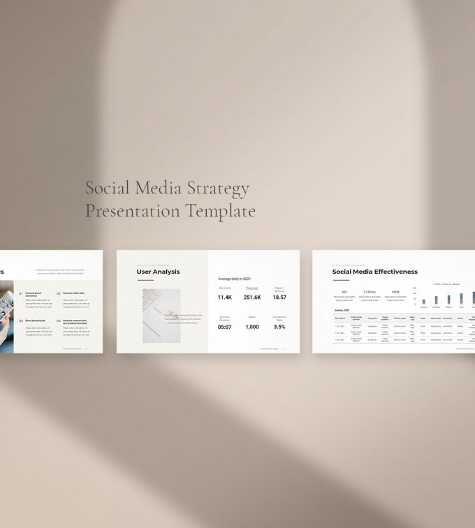 Social Media Strategy Template Preview 3