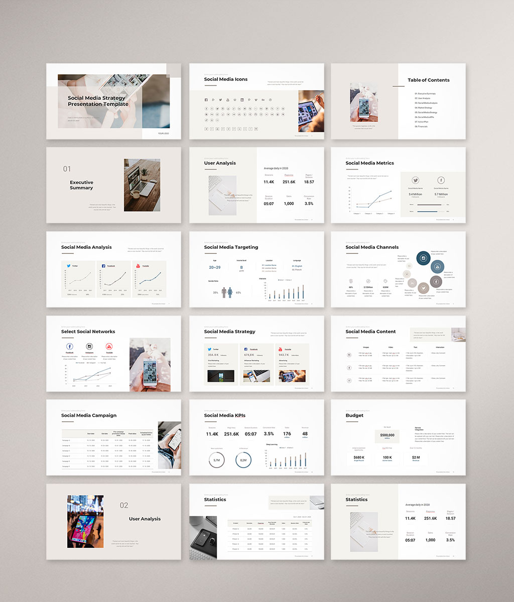 Social Media Strategy Template Preview 01