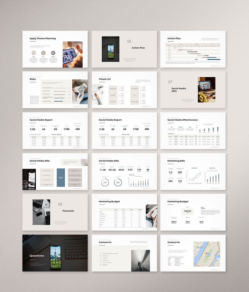 Social Media Strategy Template Preview 06