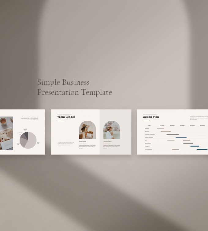 CANVA Simple Presentation Template Preview3