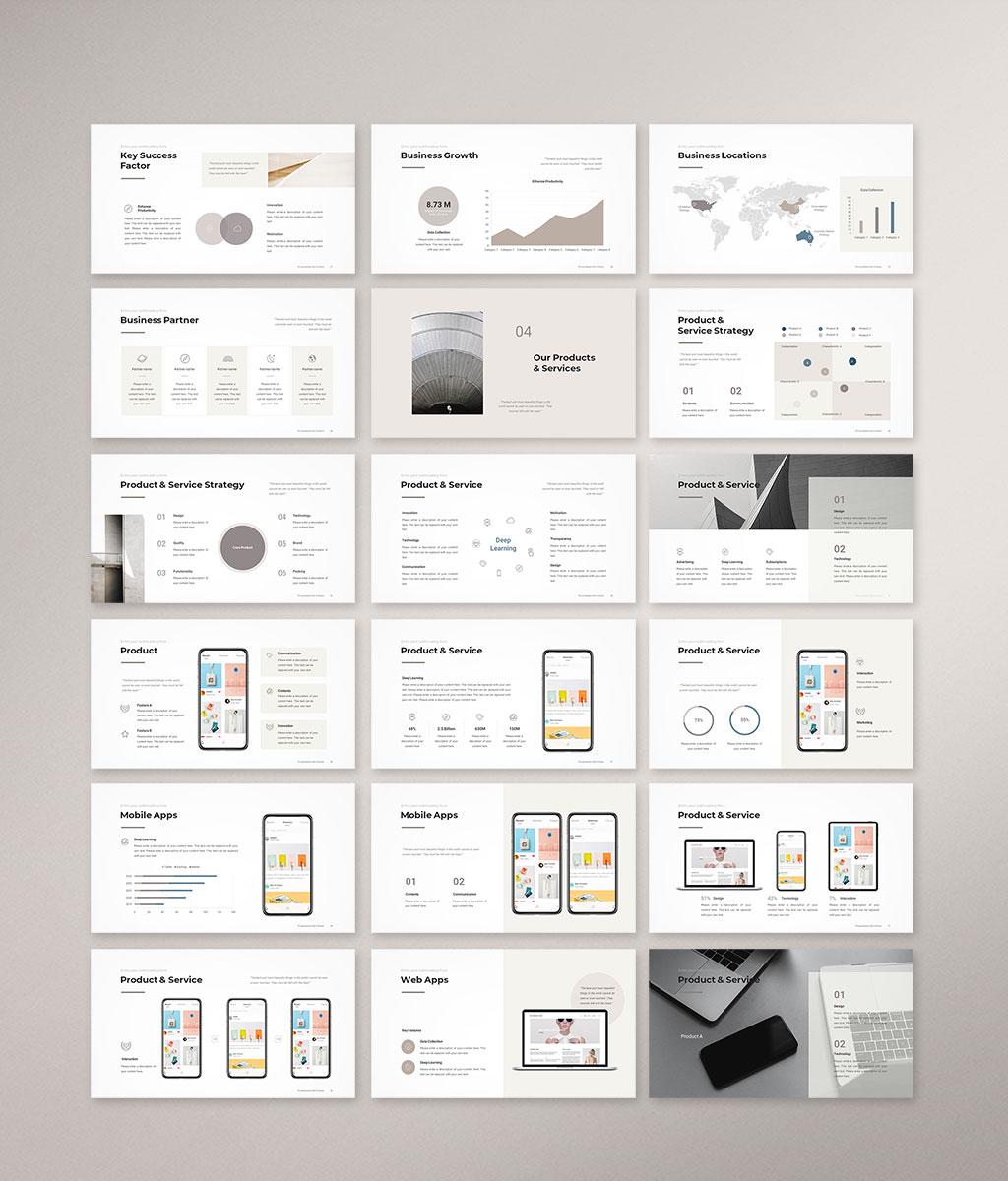Company Profile Presentation Template Preview 003