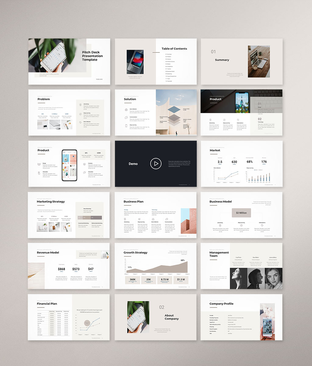 Pitch Deck PowerPoint Template 1