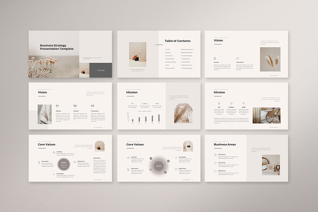 Business Strategy Presentation Template Preview 1