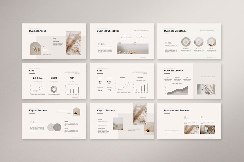 Business Strategy Presentation Template Preview 2