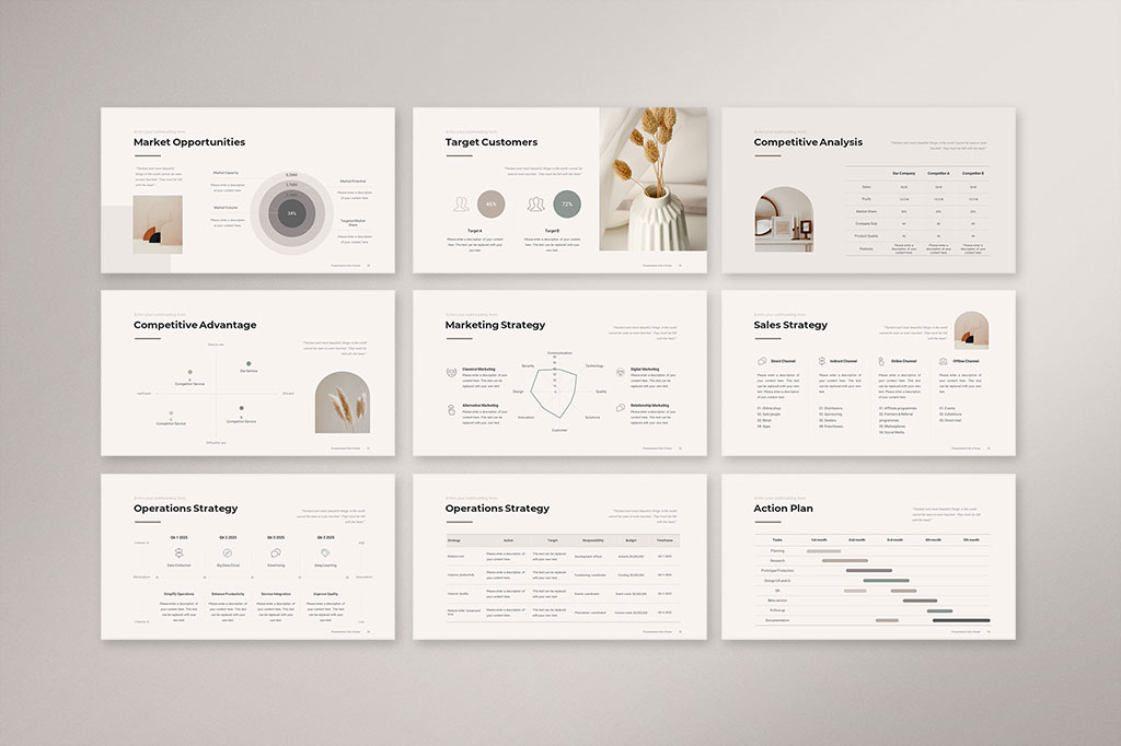 Business Strategy Presentation Template Preview 4