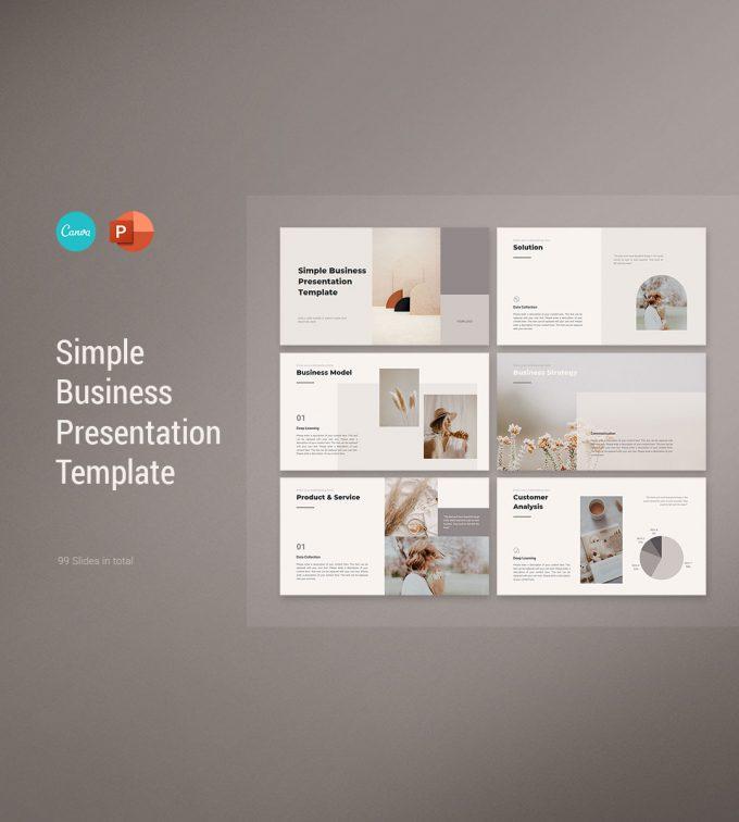 CANVA Simple Presentation Template Cover