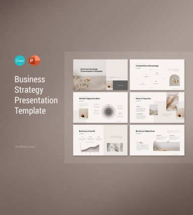 Business Strategy Presentation Template Cover